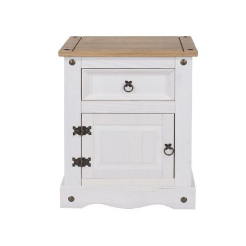 Corin Bedside Chest, White
